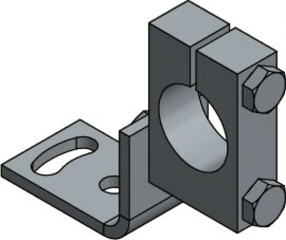 PS 11/K-35 AF 2 Clamping collar with angle